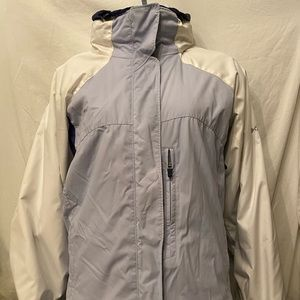 Columbia blue/ cream winter jacket size L
